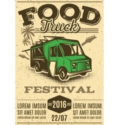 retro poster for invitations on street food vector image