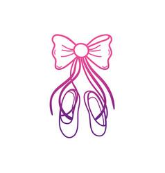 Ballet shoes design vector
