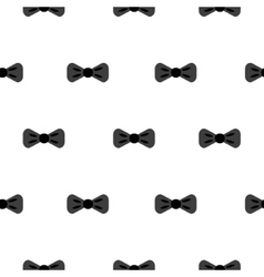Bow tie black and white seamless pattern vector