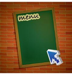 Brickwall chalkboard vector image