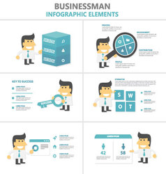 Business activity infographic elements flat design vector