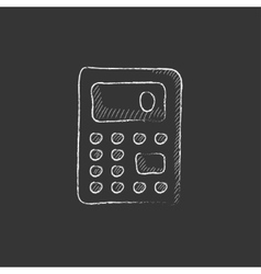 Calculator Drawn in chalk icon vector image