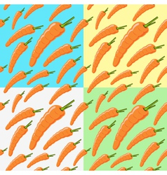 carrot pattern on a colored background vector image
