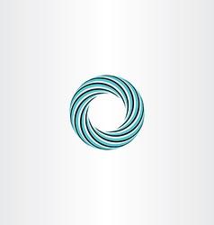 circle abstract icon logo sign rotation vector image vector image
