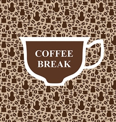 Coffee breack beige vector