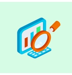 Computer analysis design isometric style vector image vector image