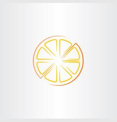 Cutted half orange icon vector