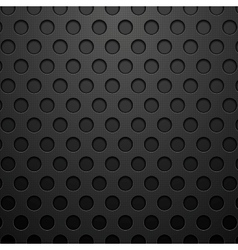Dark concept circles technology background vector