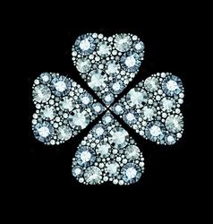 Diamond clover vector