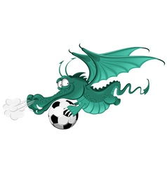 Dragon and soccer ball vector
