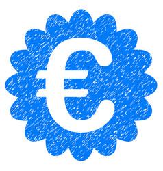 Euro award seal grunge icon vector