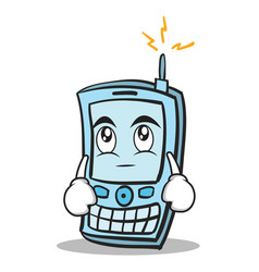 eye roll phone character cartoon style vector image