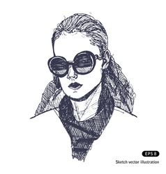 Female with sunglasses vector image vector image