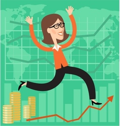 Financial success vector image vector image