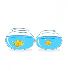 fish in tank vector image vector image