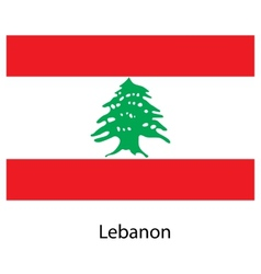 Flag of the country lebanon vector