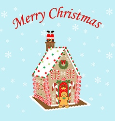 Gingerbread House icon vector image