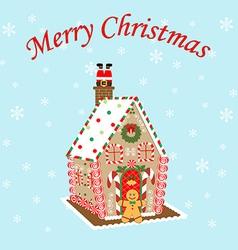 Gingerbread house icon vector