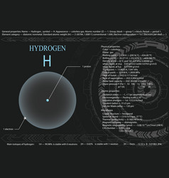 hydrogen atom vector image vector image