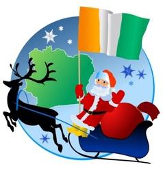 Merry Christmas Cote dIvoire vector image