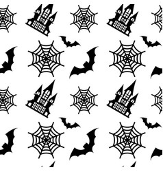 pattern old house black vector image