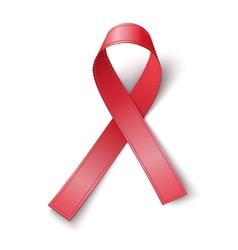 Red ribbon aids awareness symbol vector