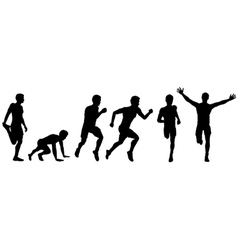 running man for design vector image vector image