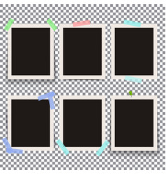 Set of isolated realistic empty photo vector