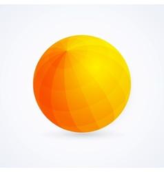 Sphere orange ball vector image vector image