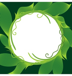 Striped Leaves Frame vector image vector image