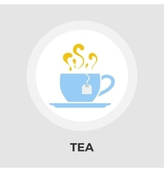 Tea flat icon vector image