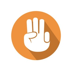 Three fingers gesture vector