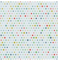 Vintage randome sizes dots seamless pattern vector image