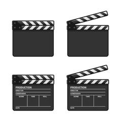 Blank clapper board set on white background vector