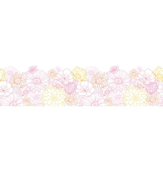 Wedding bouquet flowers horizontal seamless vector