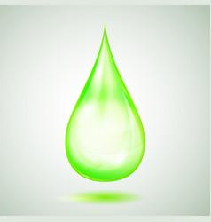 One big green drop vector