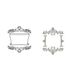 decorative doodle frames for your design vector image