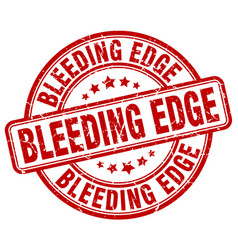 Bleeding edge red grunge stamp vector