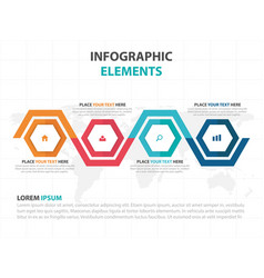 Abstract colorful hexagon timeline business vector