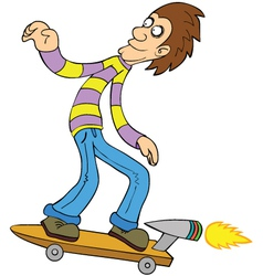 Turbo skateboard vector image