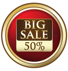 Big sale advertisement label vector