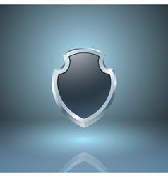 Glossy shield icon vector image
