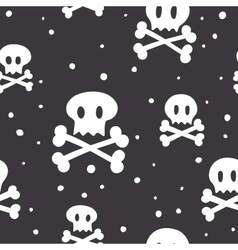 Crossbones pattern black vector