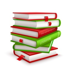Big pile of books vector