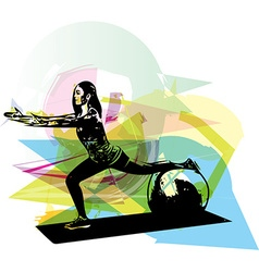 Yoga woman vector