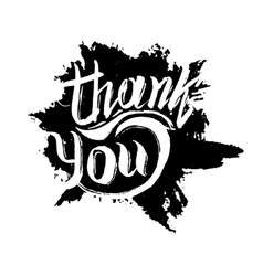 Thank you ink hand drawn lettering vector
