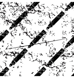 Fountain pen pattern grunge monochrome vector
