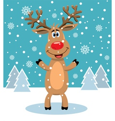 Red nosed reindeer vector