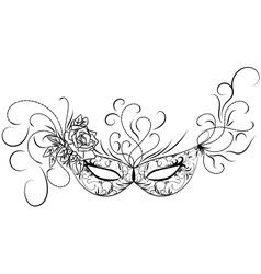 Skethc carnival mask vector image
