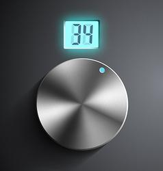 Round regulator with digital screen vector image